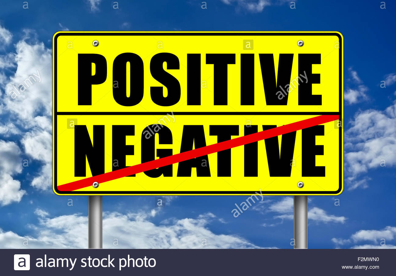 stay positive - Stock Image