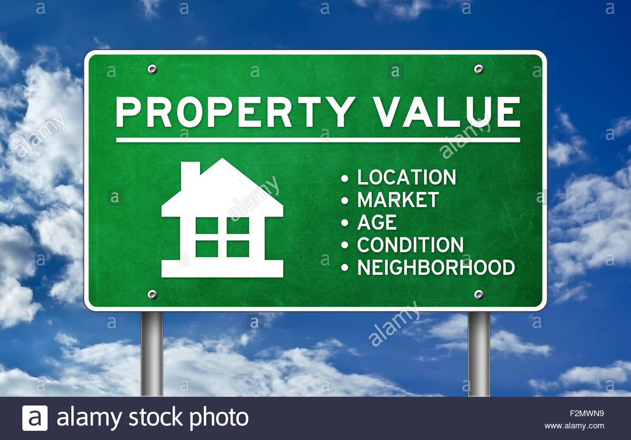 Property Value concept - Stock Image