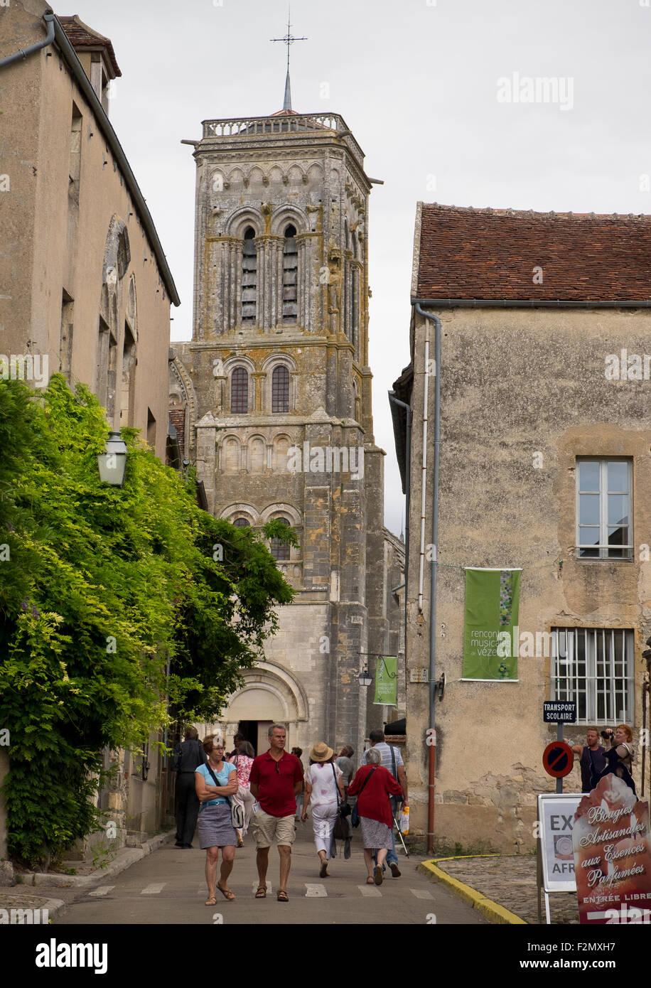 The Basilica of St Magdelene, Vezelay - Stock Image