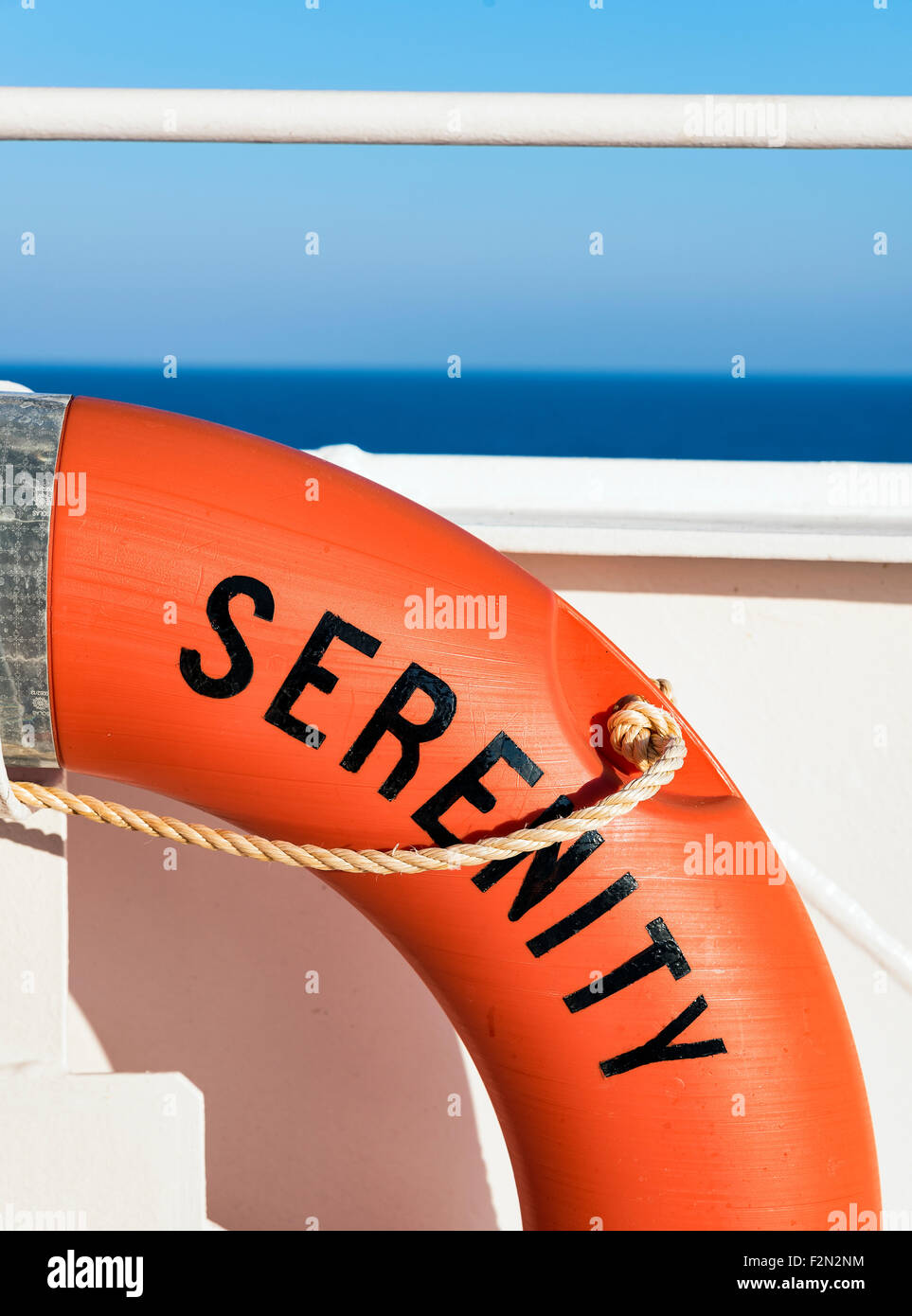 Serenity life saver. - Stock Image