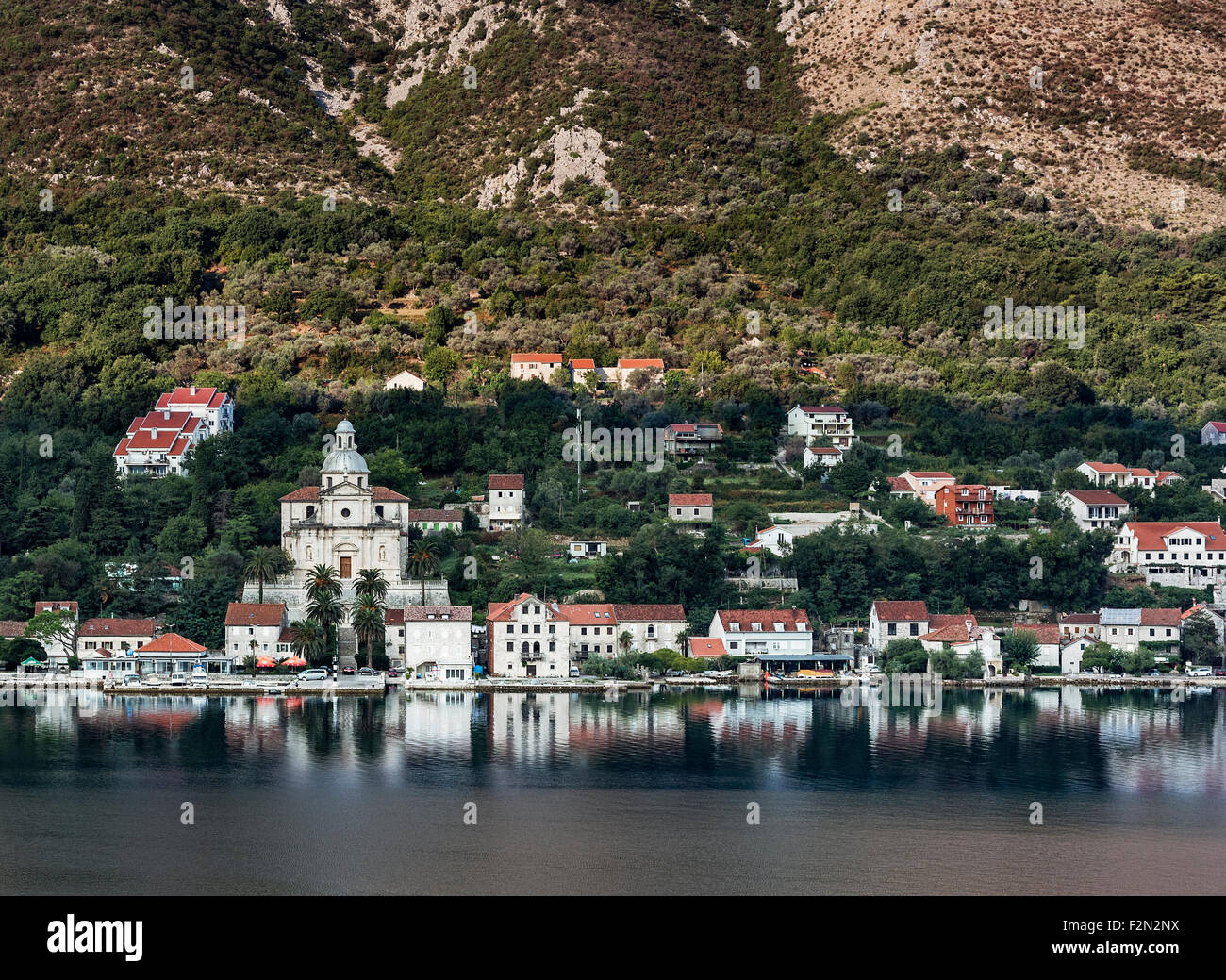 The Catholic Church of the Birth of the Virgin Mary, Prcanj, Montenegro Stock Photo