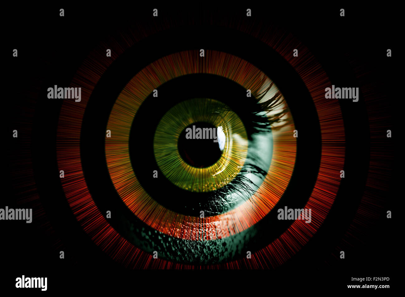 Human eye – abstract vision concept - Stock Image
