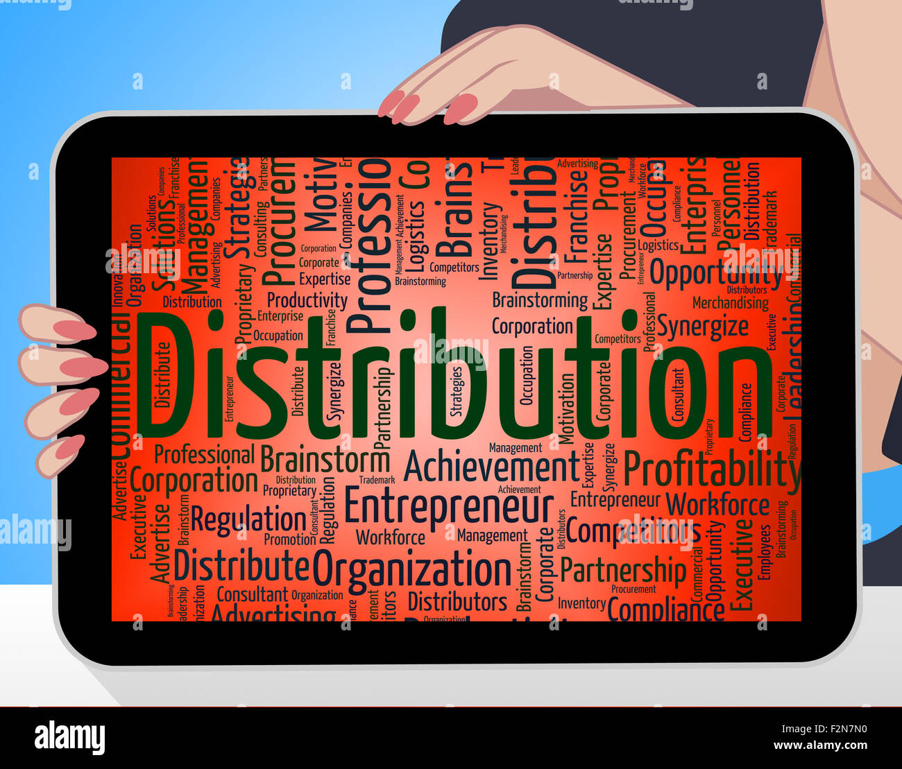 Distribution Logistics Meaning Supply Chain Stock Photos