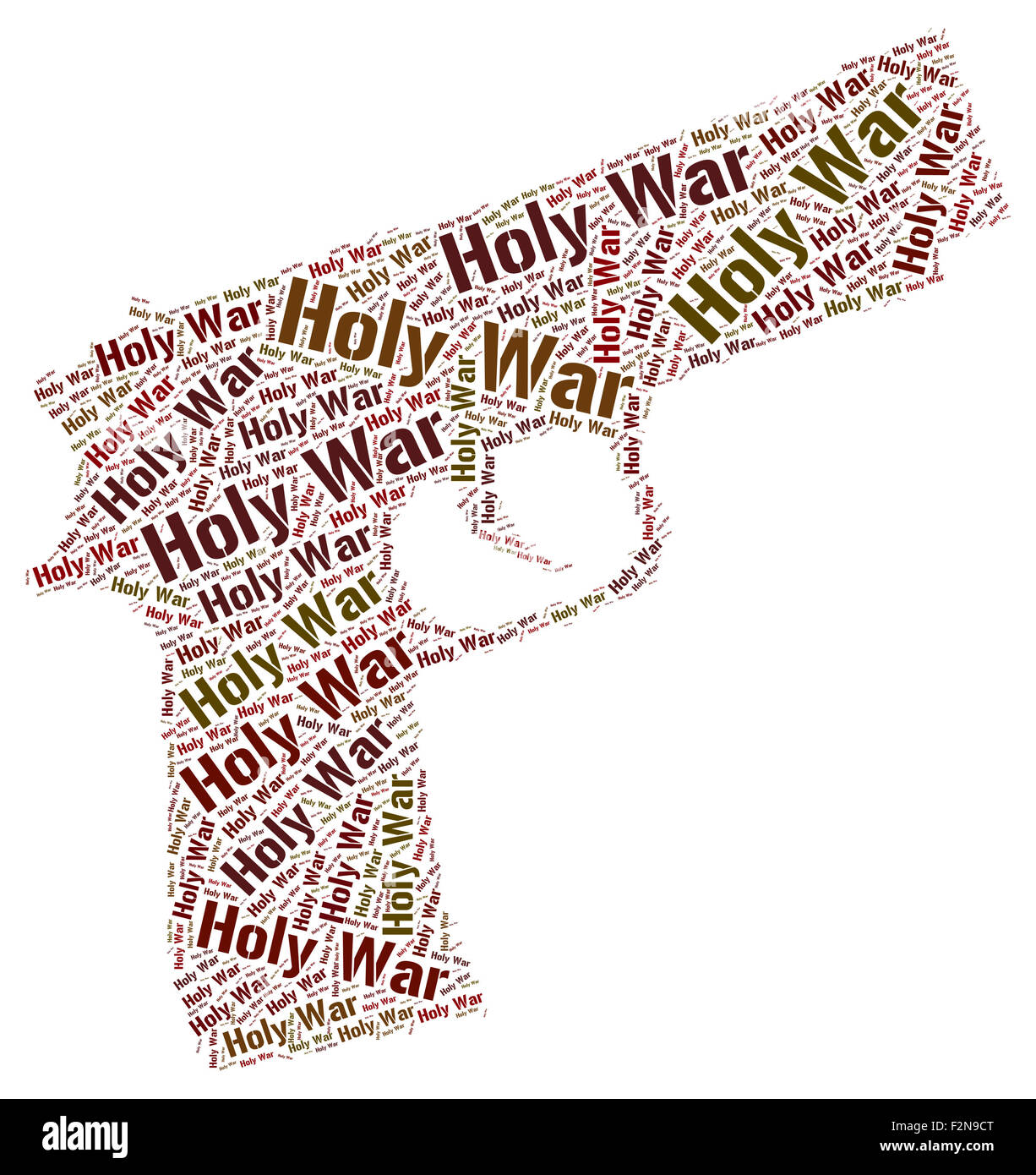 Holy War Showing Hallowed Revered And Word - Stock Image