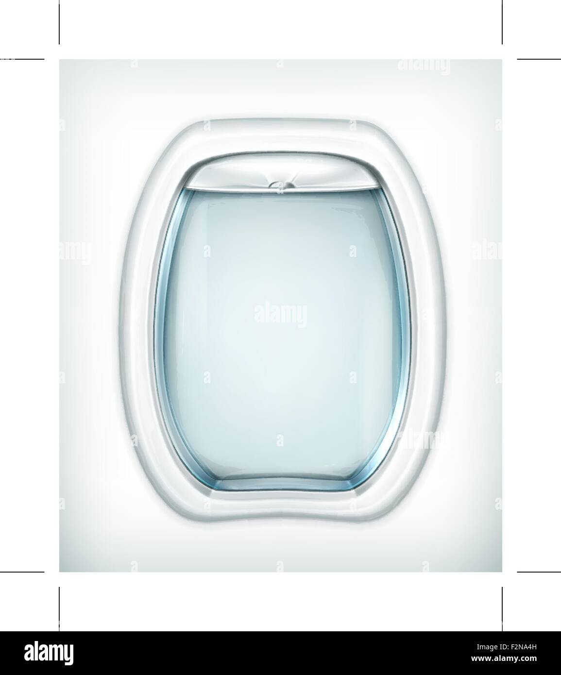 Porthole, transparent glass - Stock Vector