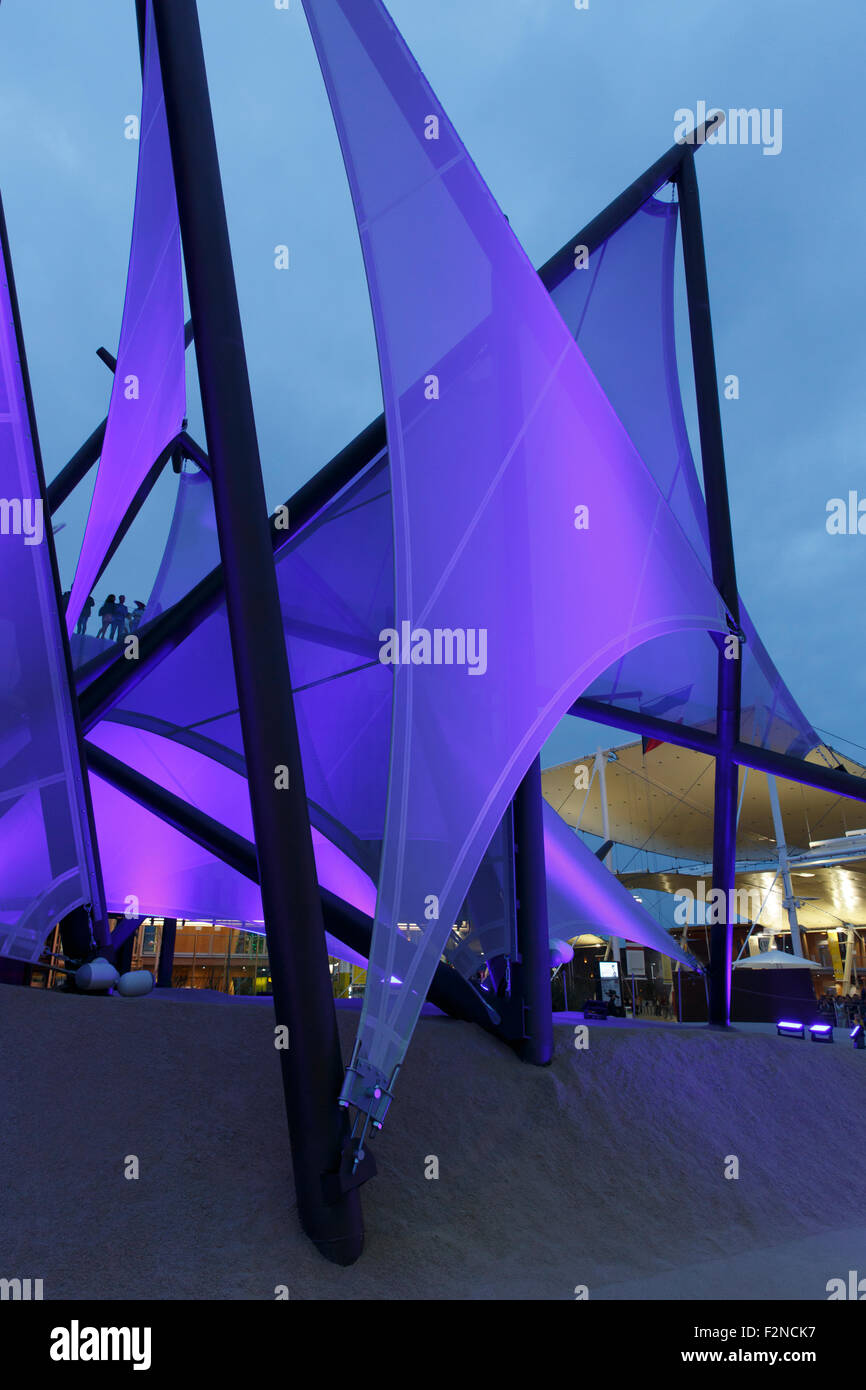 Milan, Italy, 13 September 2015: Detail of the Kuwait pavilion at the exhibition Expo 2015 Italy. - Stock Image