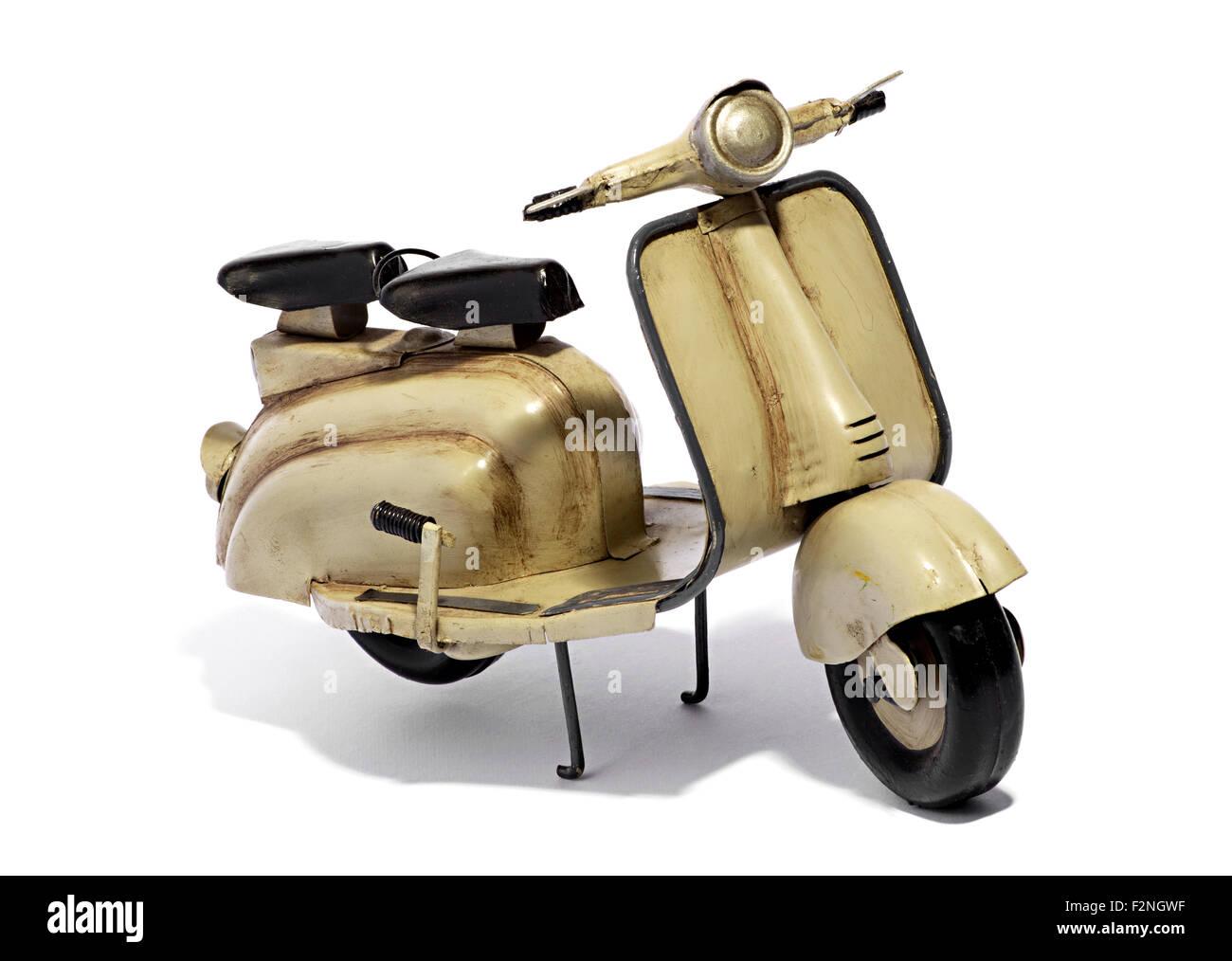 Model of Motorized Scooter - Lambretta - - Stock Image