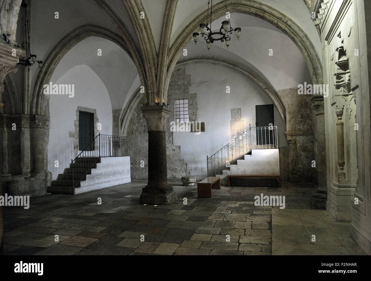 Israel. Jerusalem. Cenacle or Upper Room. Is a room traditionally held to be the side of The Last Supper. Mount - Stock Image