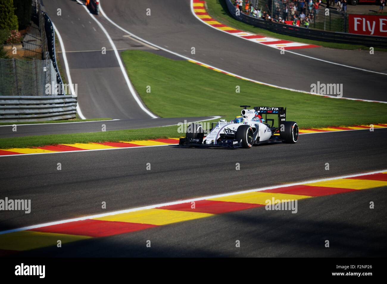 Spa Francorchamps Formula 1 2015 Season Williams Friday Practice - Stock Image
