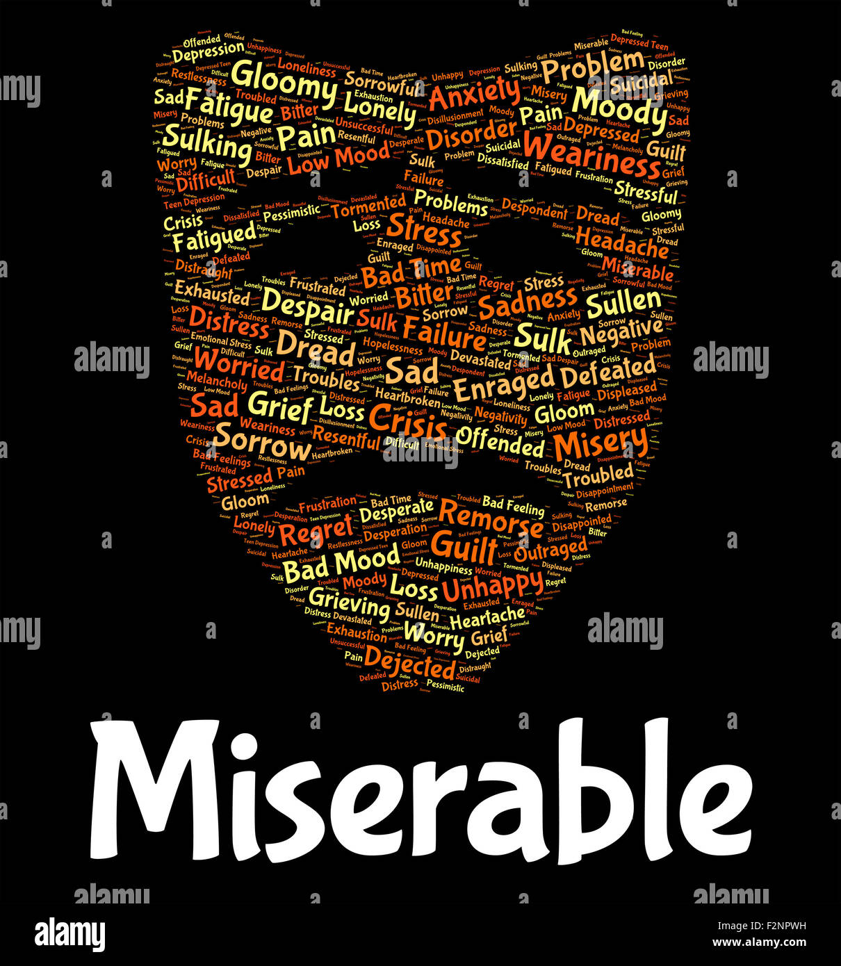 Miserable Word Meaning Grief Stricken And Wretched Stock Photo Alamy If you are desperate , you are in such a bad situation that you are willing to try. https www alamy com stock photo miserable word meaning grief stricken and wretched 87760109 html