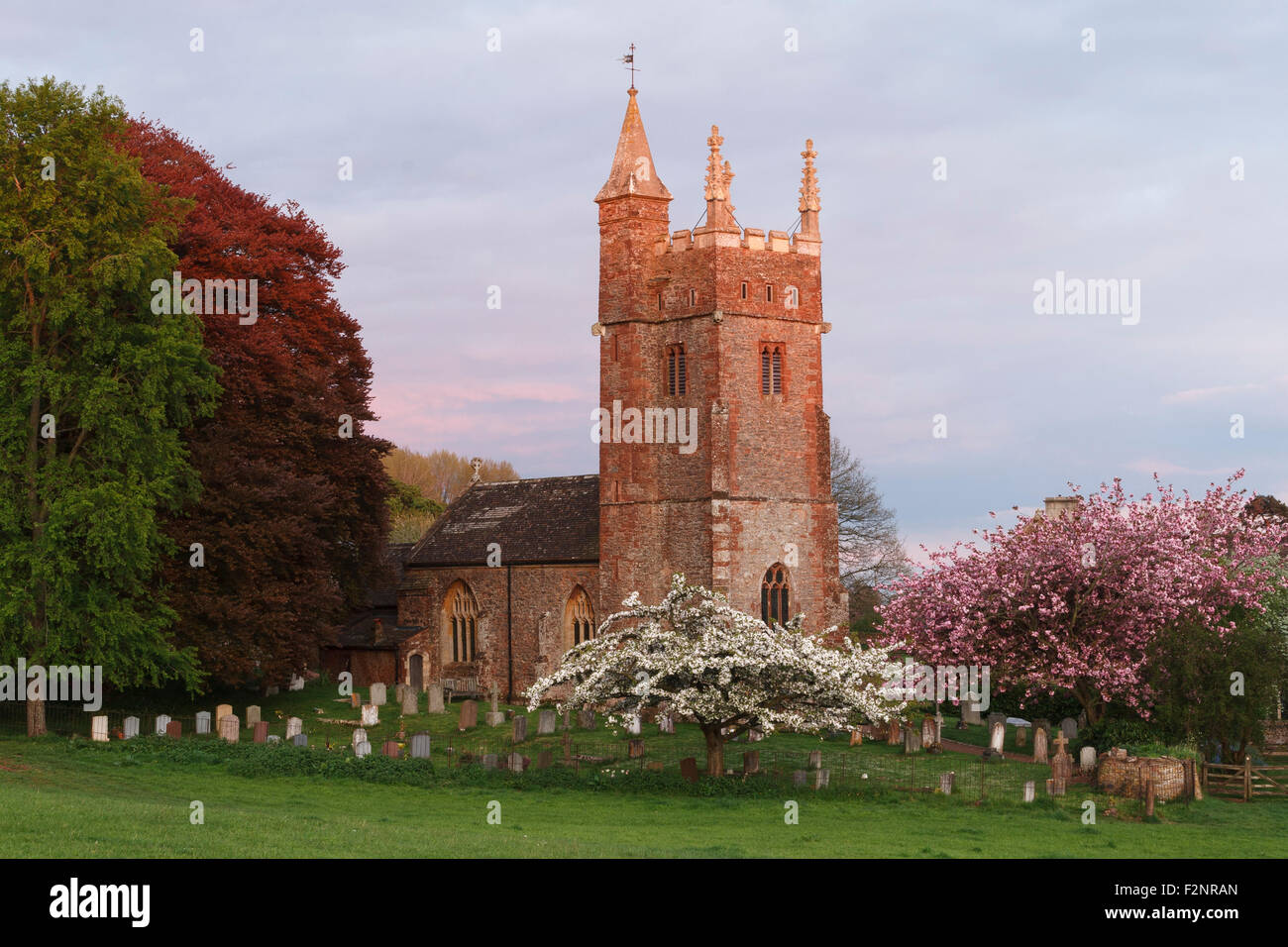 St Thomas of Canterbury church at Cothelstone. The church is situated just behind Cothelstone manor. Stock Photo