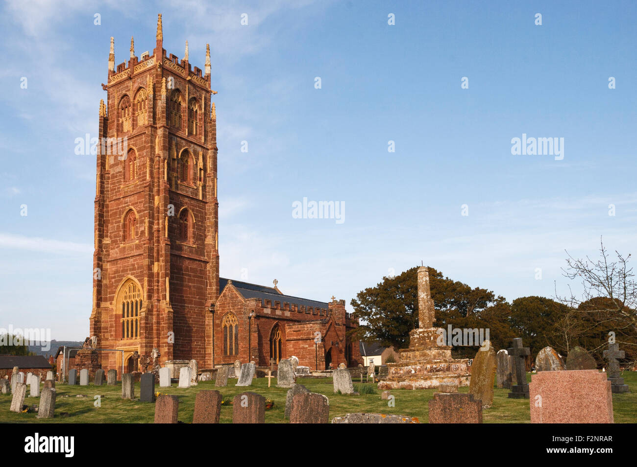 St. Mary's church in Bishop's Lydeard, Somerset. - Stock Image