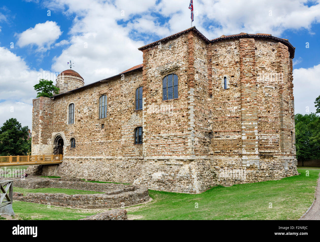 The front of Colchester Castle, Colchester, Essex, England, UK - Stock Image