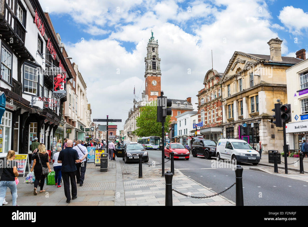 The High Street, Colchester, Essex, England, UK - Stock Image