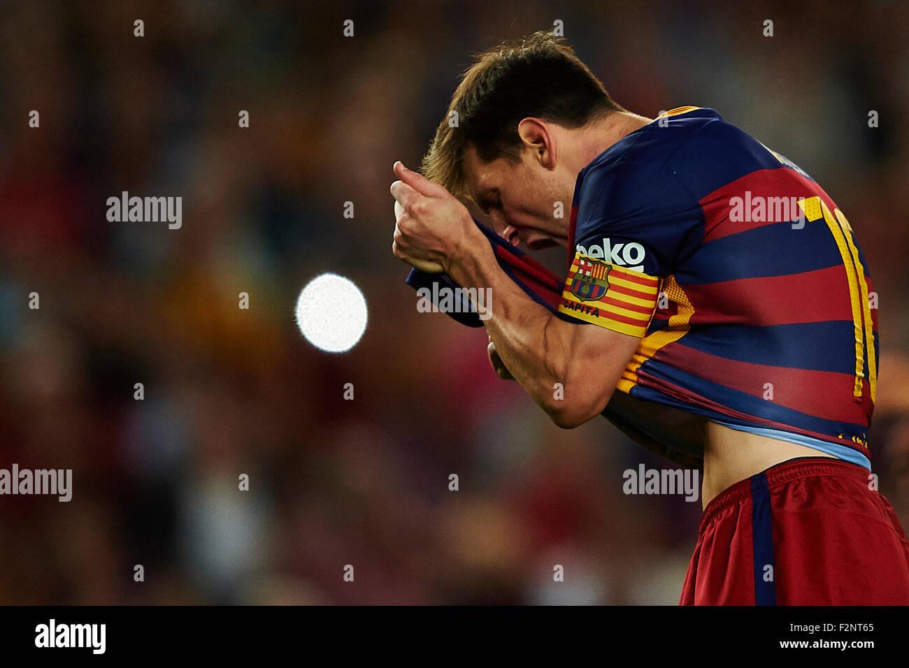 Lionel Messi Fc Barcelona Reacts La Liga Soccer Match Live Levante Ud