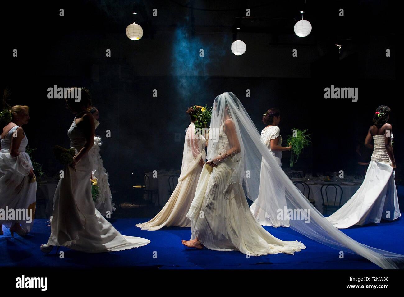 Italy, Lombardy, Bollate prison, 'Se scappi ti sposo' fashion show - Stock Image