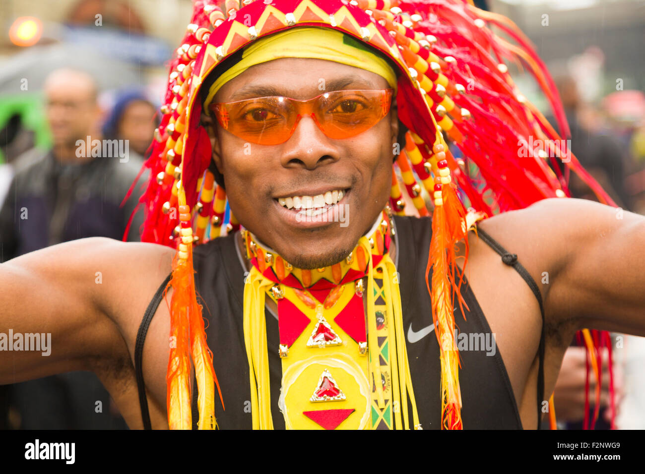 Notting Hill Carnival Outfits, London, Jamaica, Trinidad & Tobago, Fashion - Stock Image