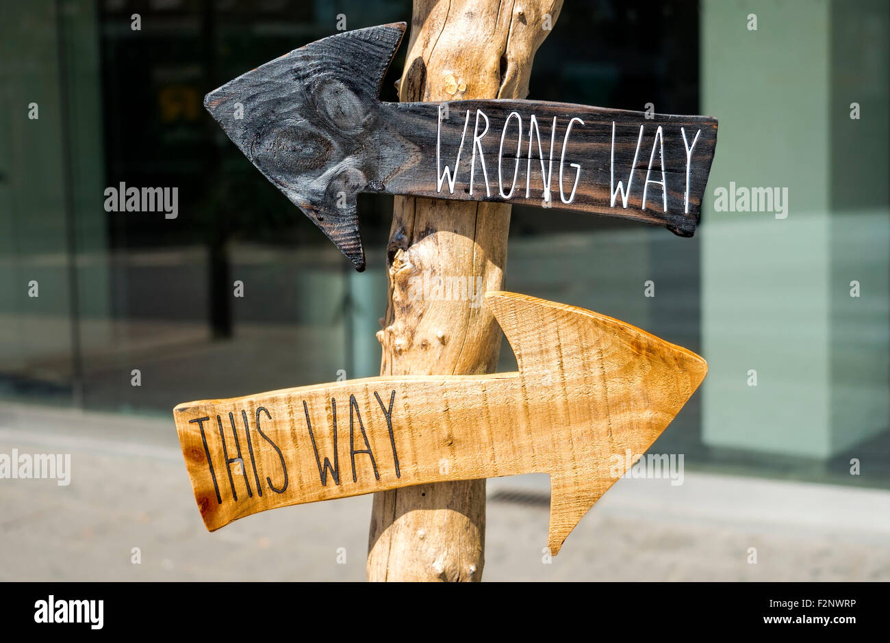 Two arrows for the right direction - Stock Image