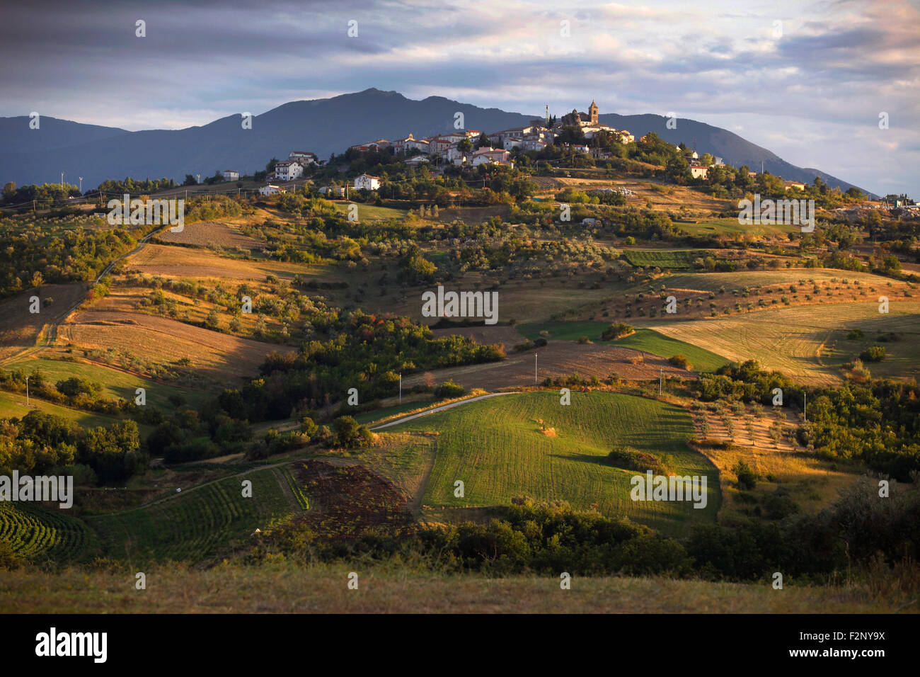 The countryside around Pietranico in Abruzzo, Italy. - Stock Image