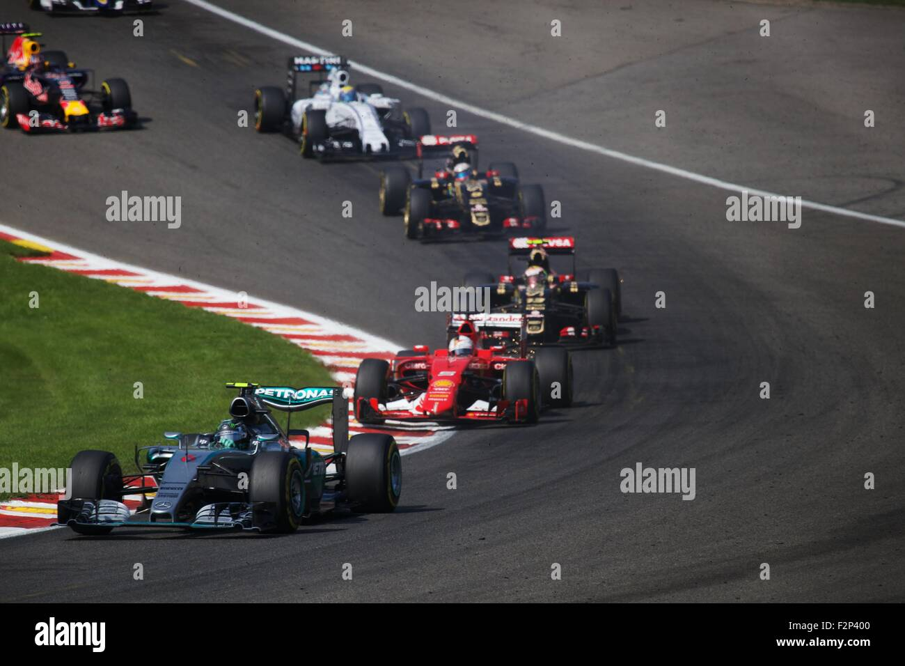 2015 Formula 1 Shell Belgian Grand Prix, Spa. - Stock Image