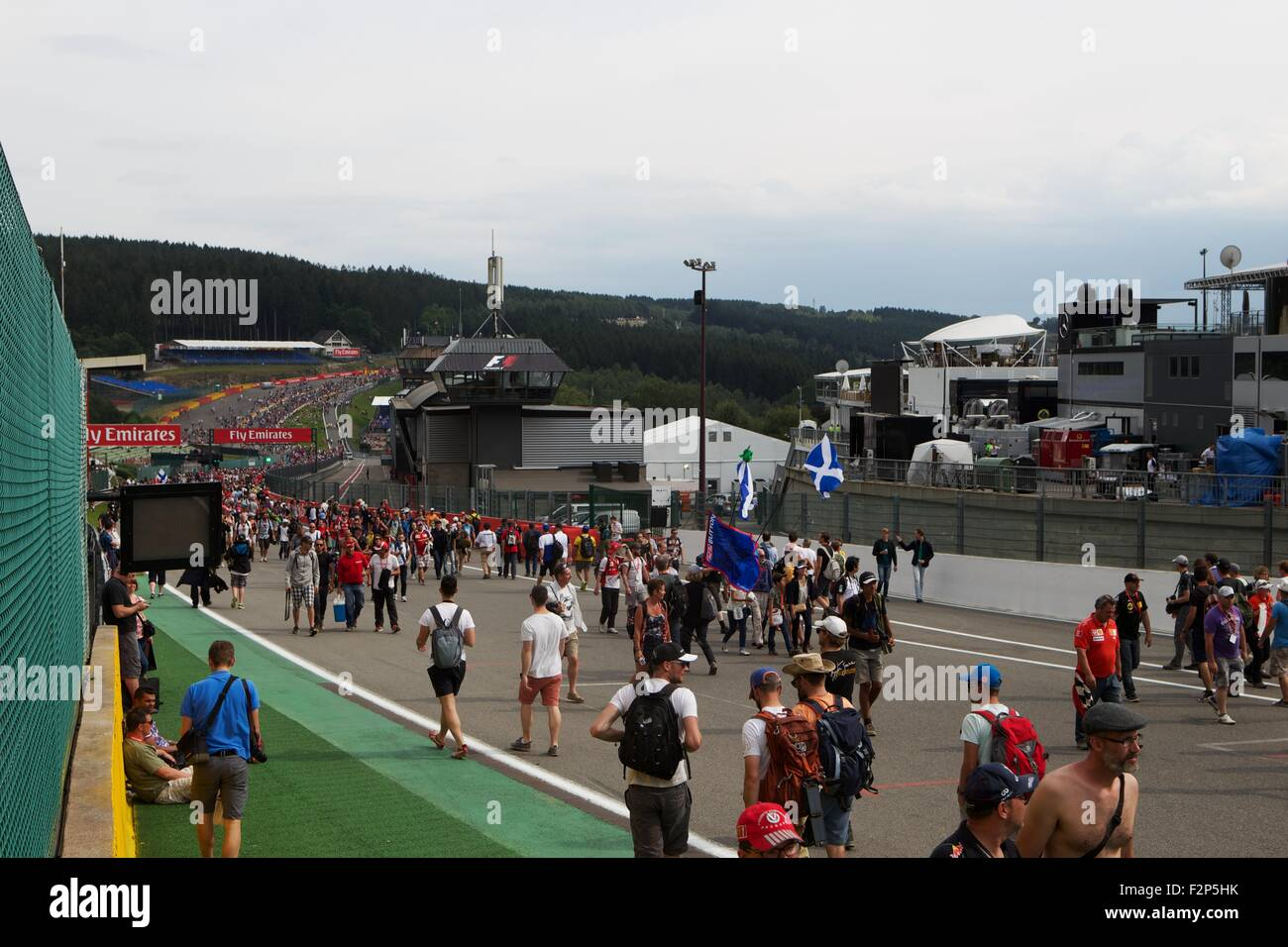 2015 Formula 1 Shell Belgian Grand Prix, Spa. - Stock Image