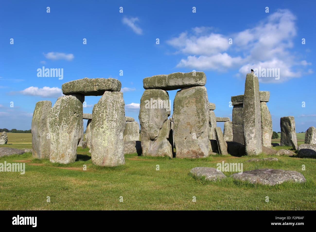 Stonehenge under a blue sky Stock Photo