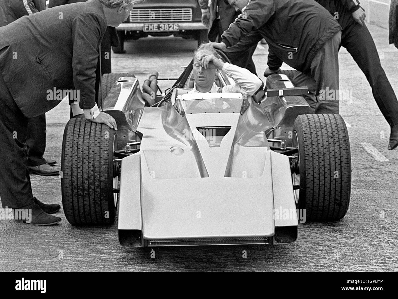 Mike Costin in a Cosworth 4WD 1969 - Stock Image