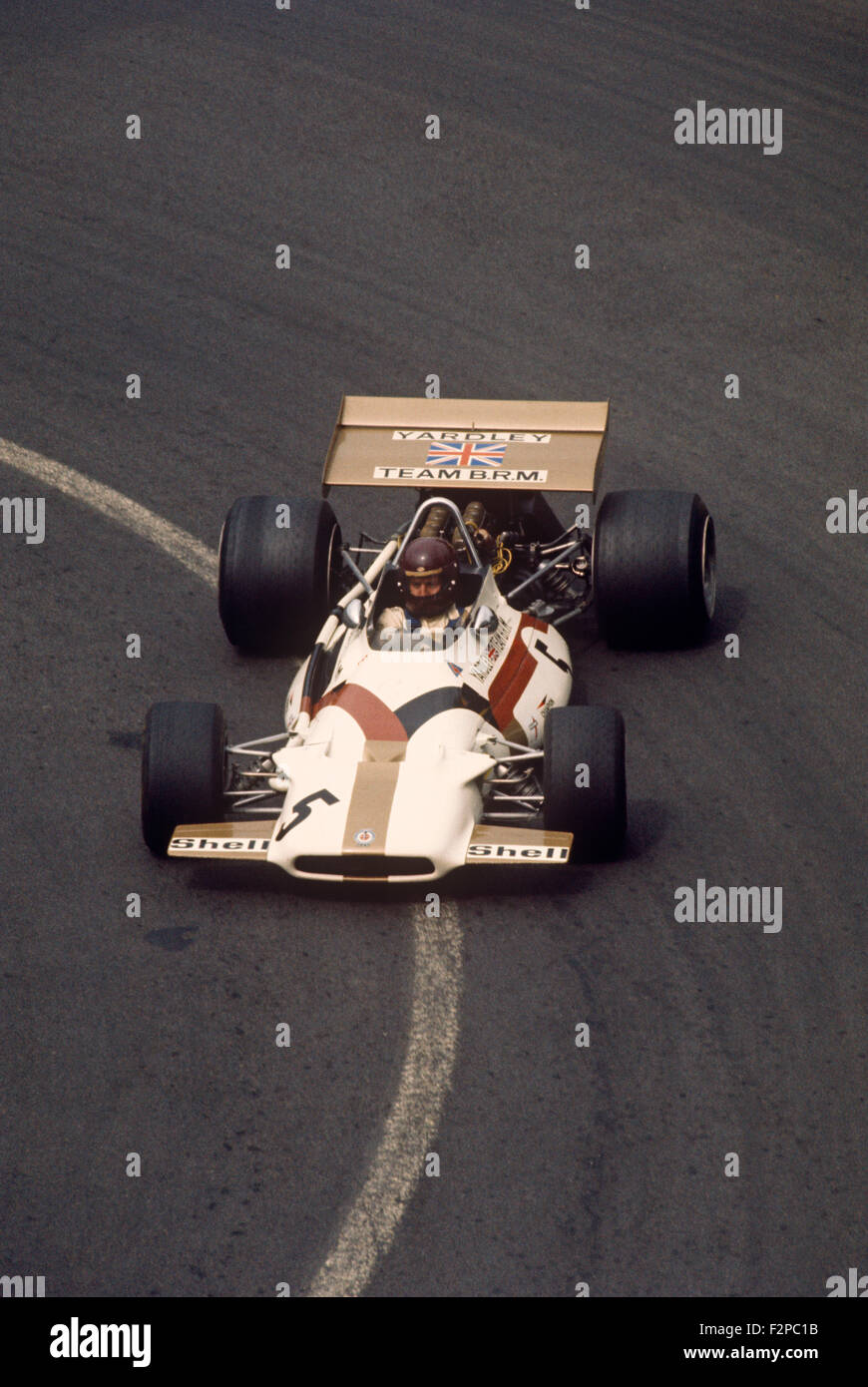 Jackie Oliver in his BRM 1970 - Stock Image
