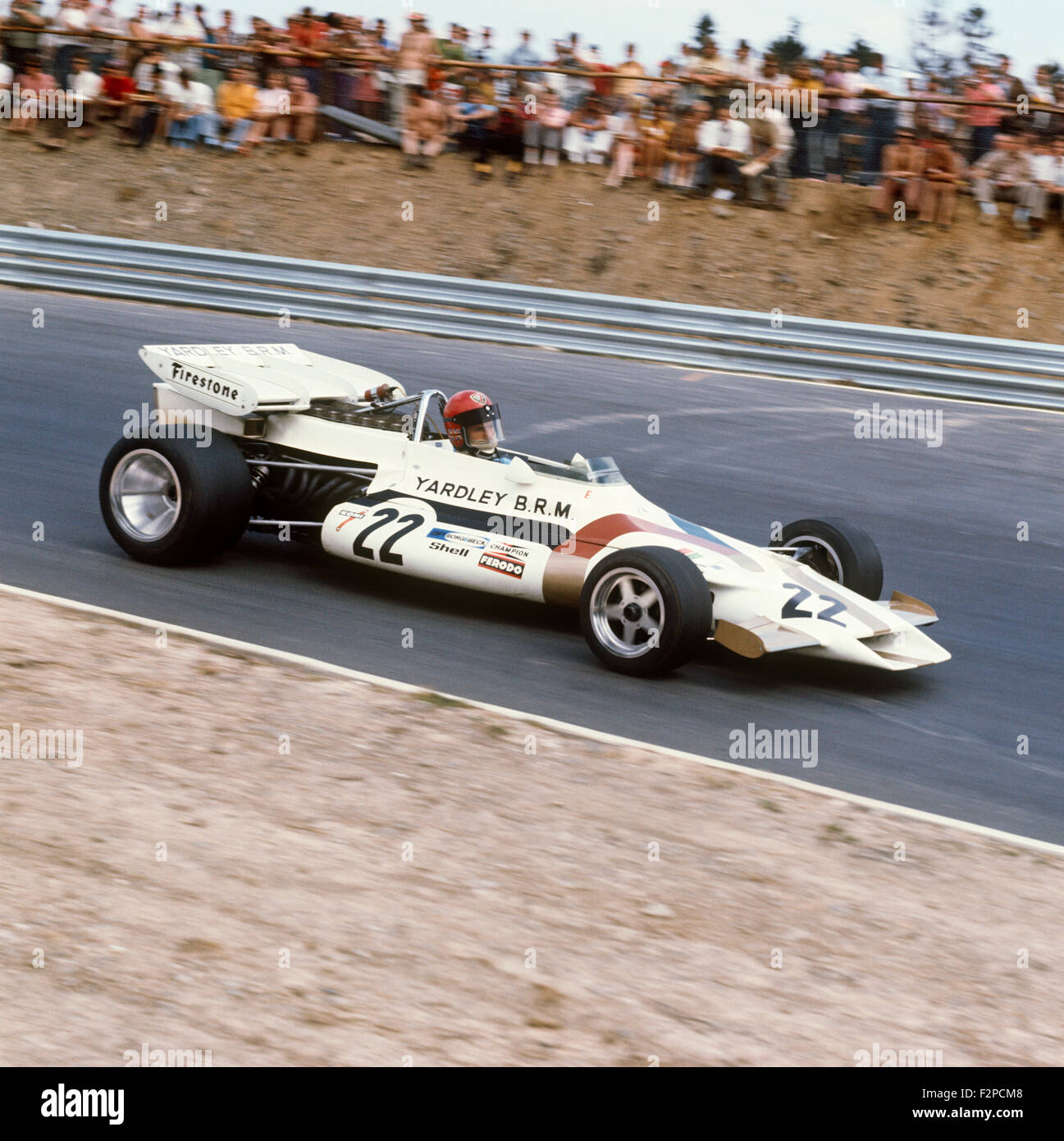 Vic Elford in his BRM 1971 - Stock Image