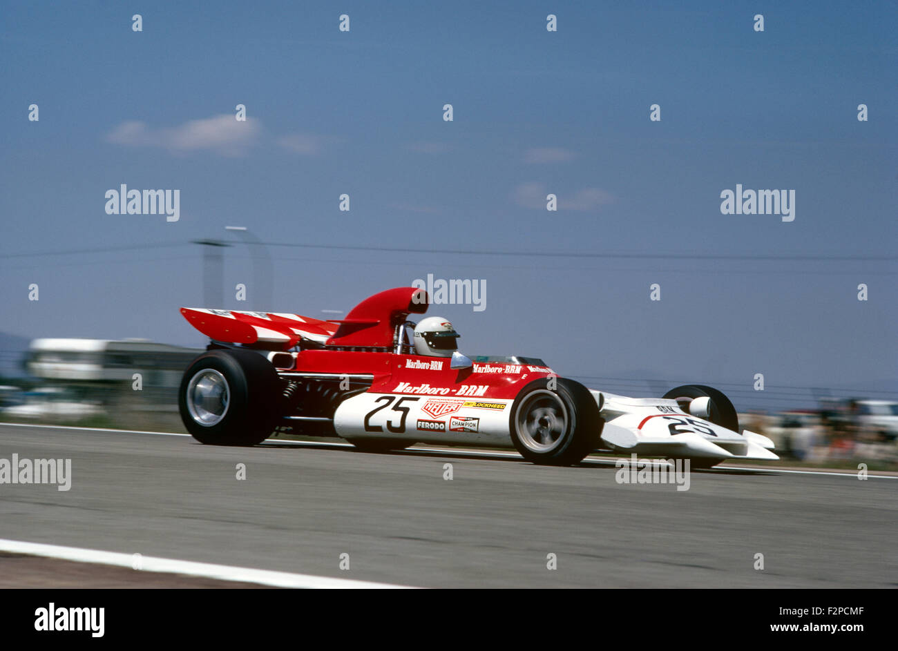 Helmut Marko in his BRM 1972 Stock Photo