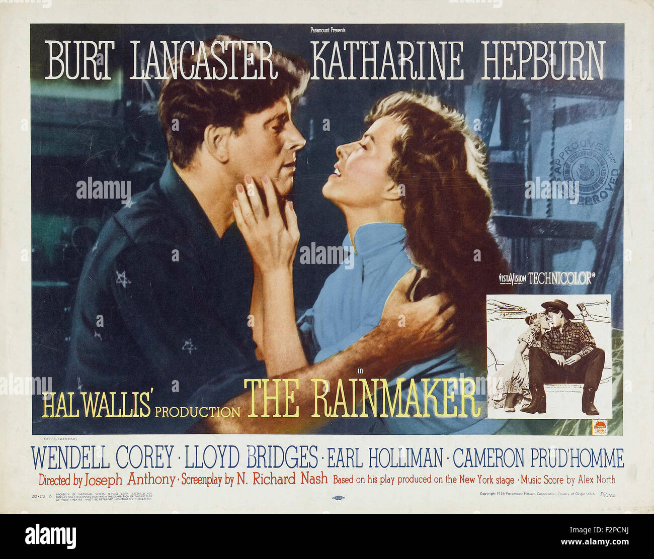 Rainmaker, The (1956) - Movie Poster - Stock Image