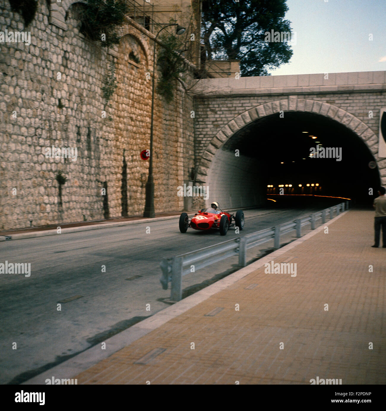 Phil Hill in a Ferrari 156 finished 3rd in the Monaco GP 14 May 1961 - Stock Image