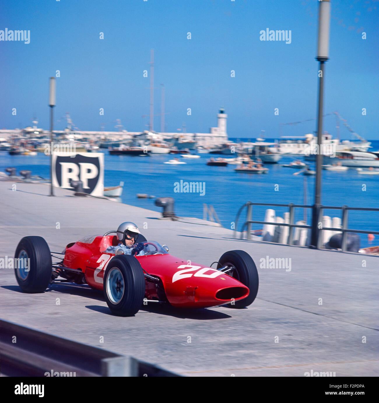 Lorenzo Bandini in a Ferrari 156 in the Monaco GP 10 May 1964 - Stock Image