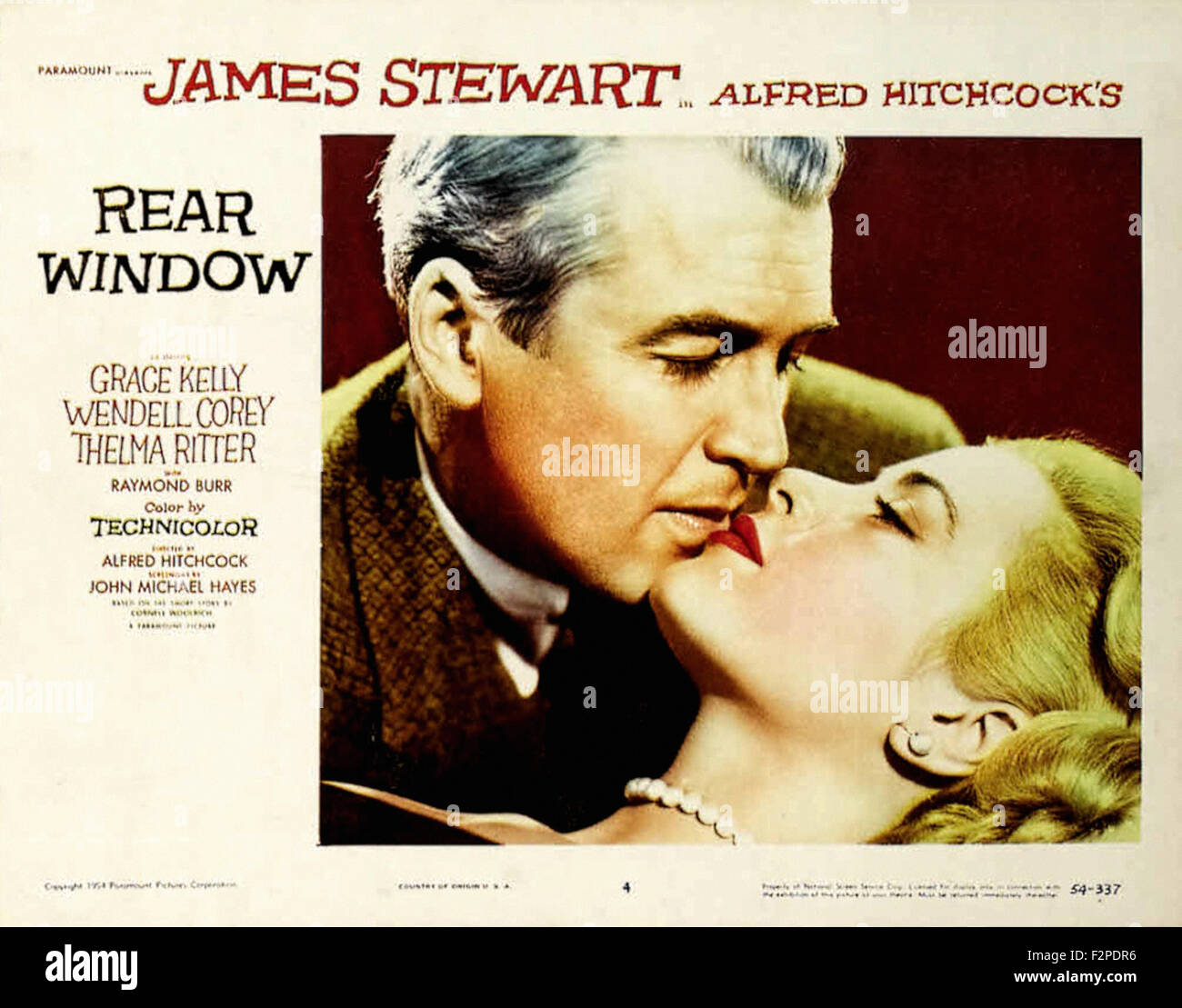 Rear Window - Movie Poster - Stock Image