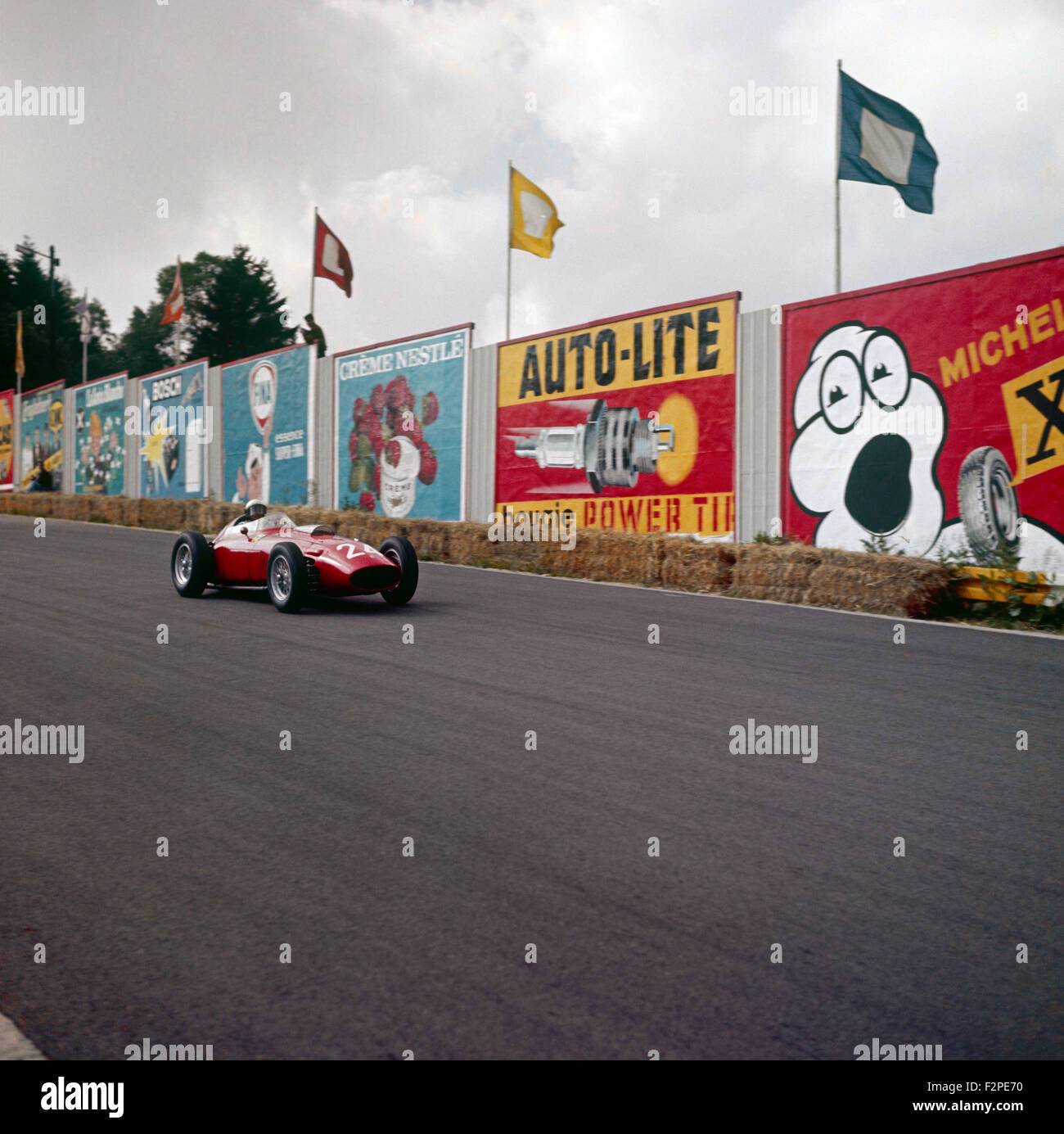 Phil Hill in a Ferrari D246 at the Belgian GP Spa Francorchamps Belgium 19 June 1960 - Stock Image