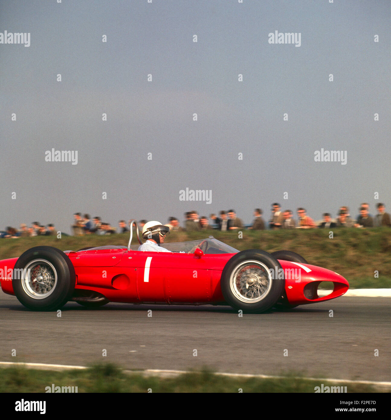 Phil Hill in a Ferrari 156 at the Dutch GP Zandvoort 22 May 1961 - Stock Image