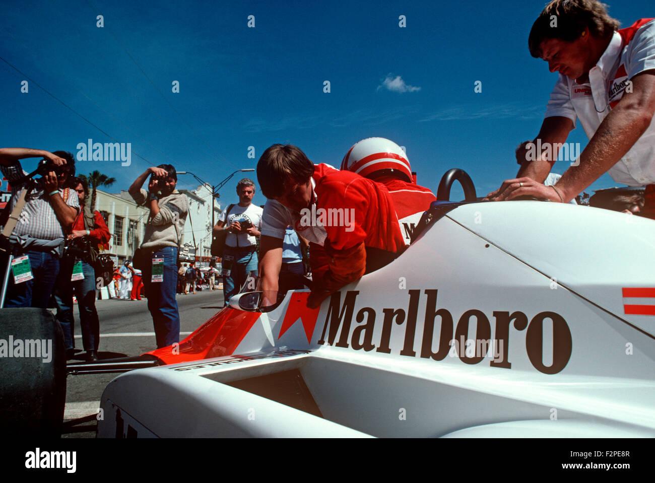 Niki Lauda in his McLaren Stock Photo