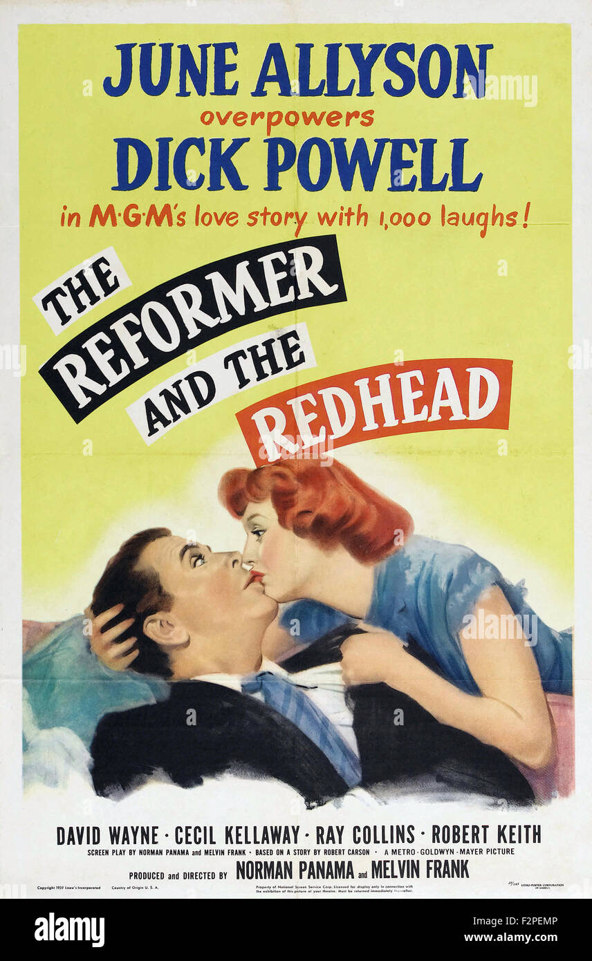 Reformer and the Redhead, The - Movie Poster - Stock Image