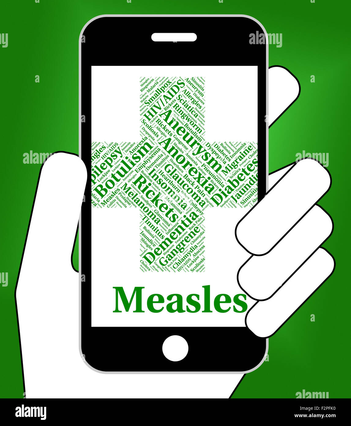 Measles Illness Indicating Poor Health And Virus Stock Photo