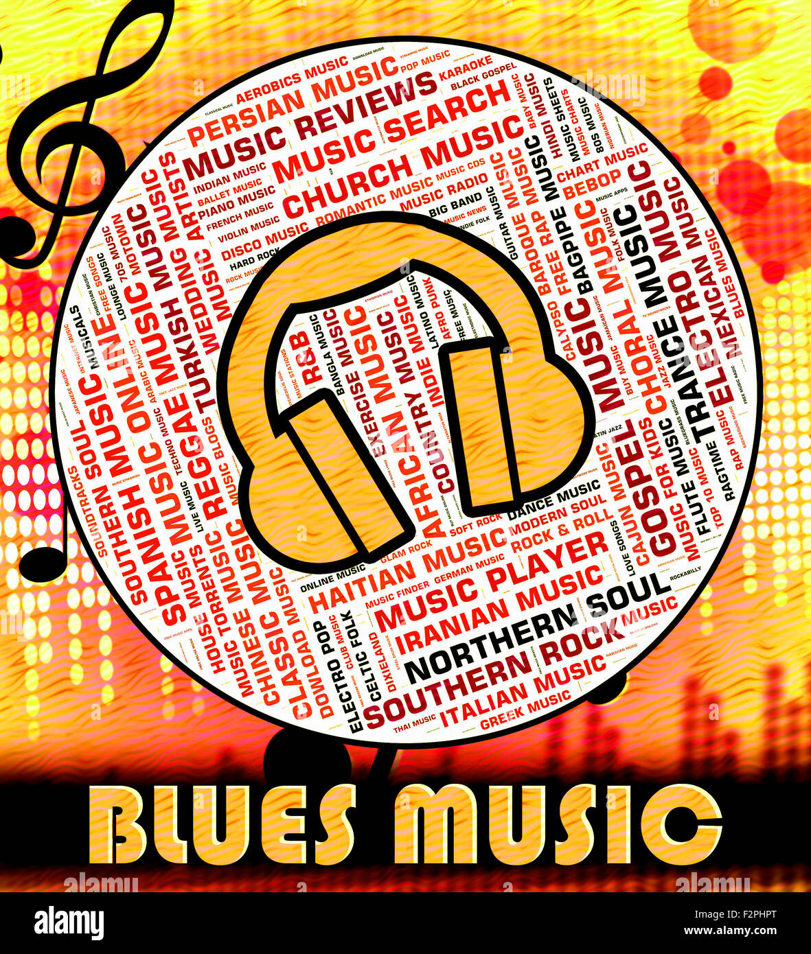 Blues Music Showing Melody Audio And Melodies Stock Photo: 87778064