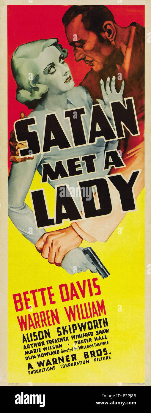 Satan Met a Lady - Movie Poster - Stock Image