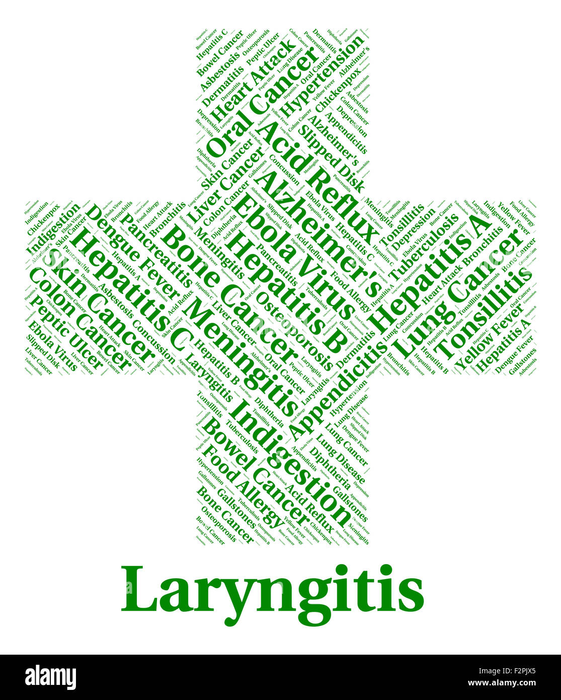 Laryngitis Illness Meaning Poor Health And Infection Stock Photo