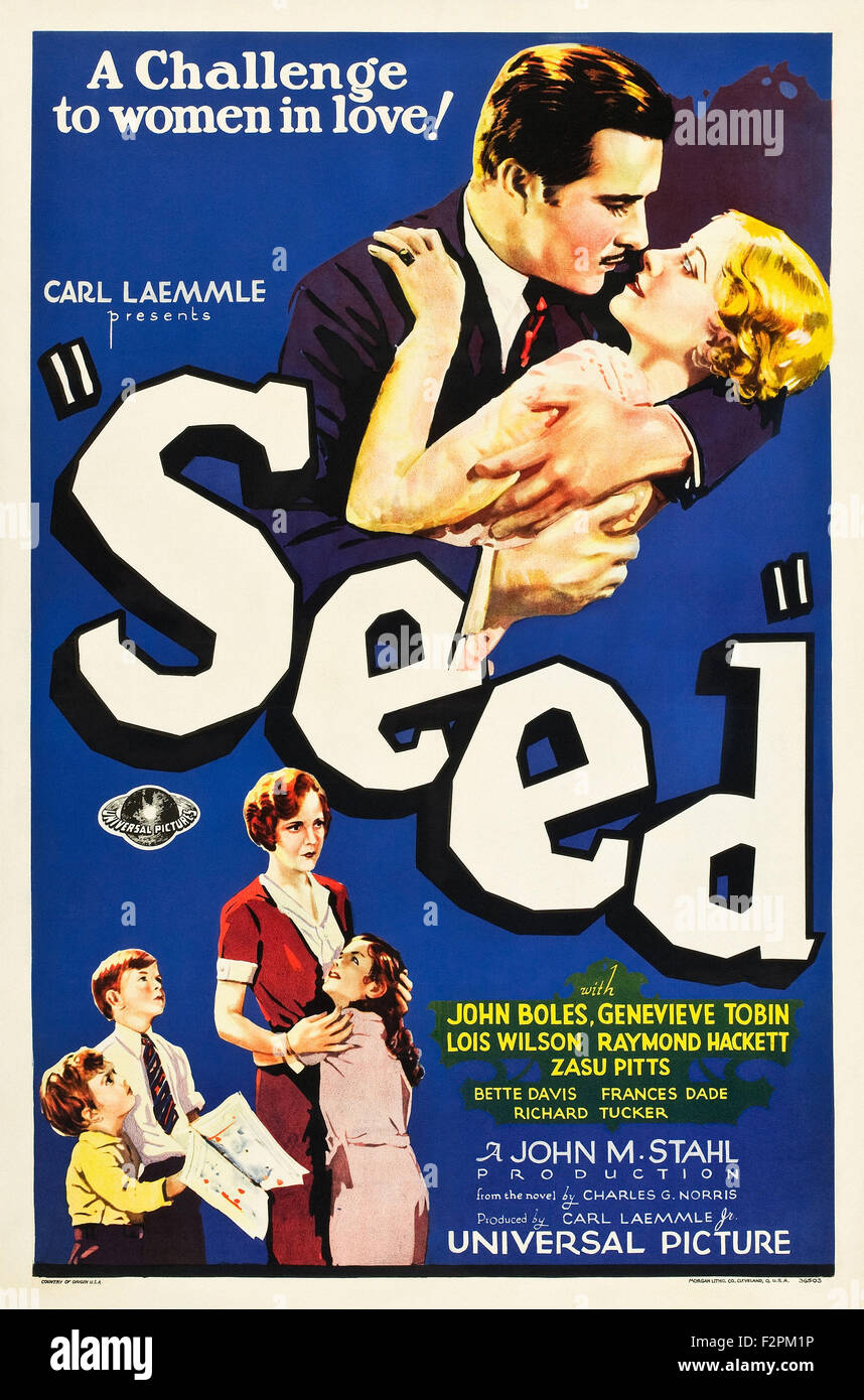 Seed (1931) - Movie Poster - Stock Image