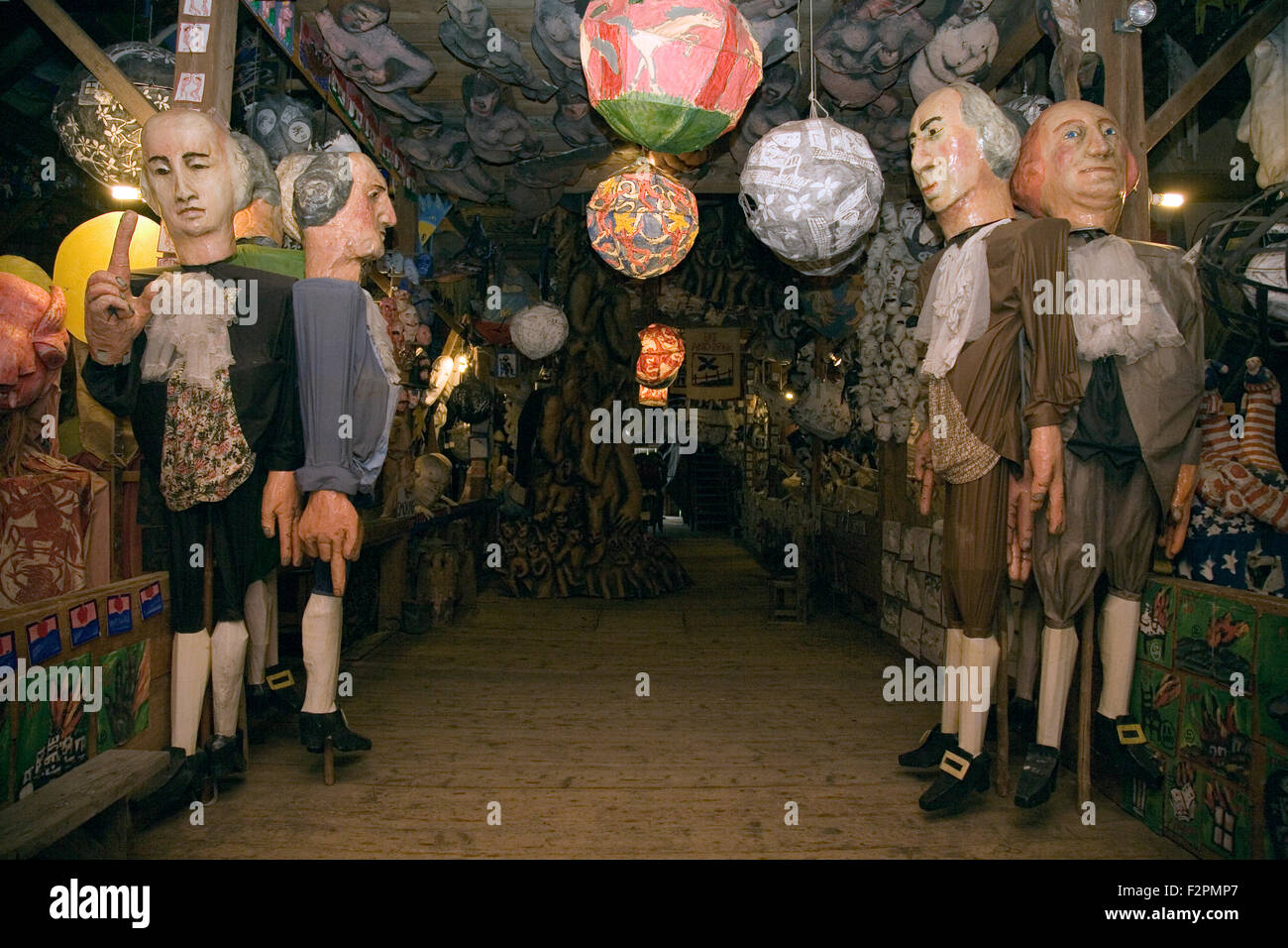 Puppets at the Bread and Puppet Museum, near Glover, Vermont, USA Stock Photo
