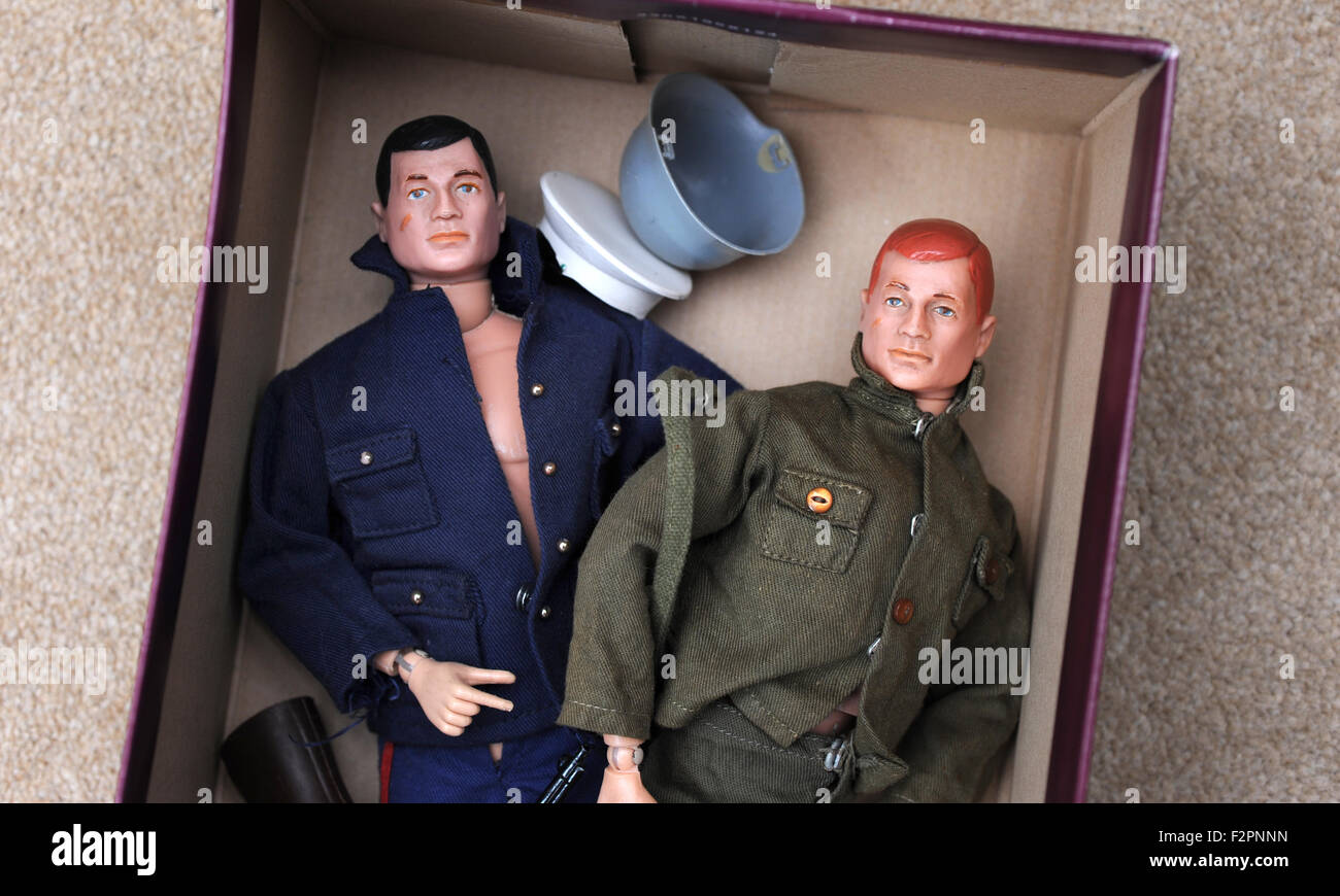 Vintage 1960 S Action Man Dolls In Shoebox Re Old Toys Value Stock