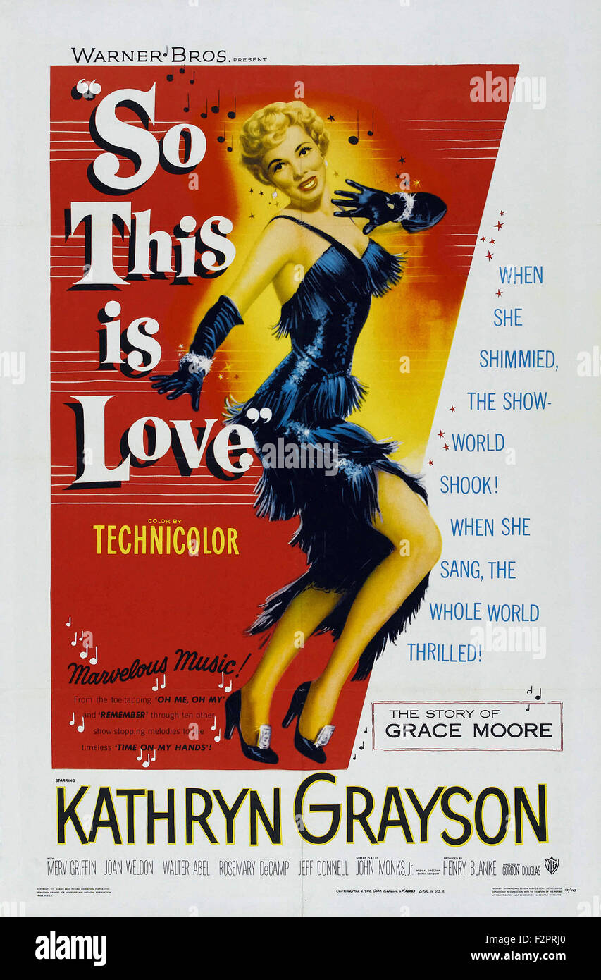 So This is Love (1953) - Movie Poster - Stock Image