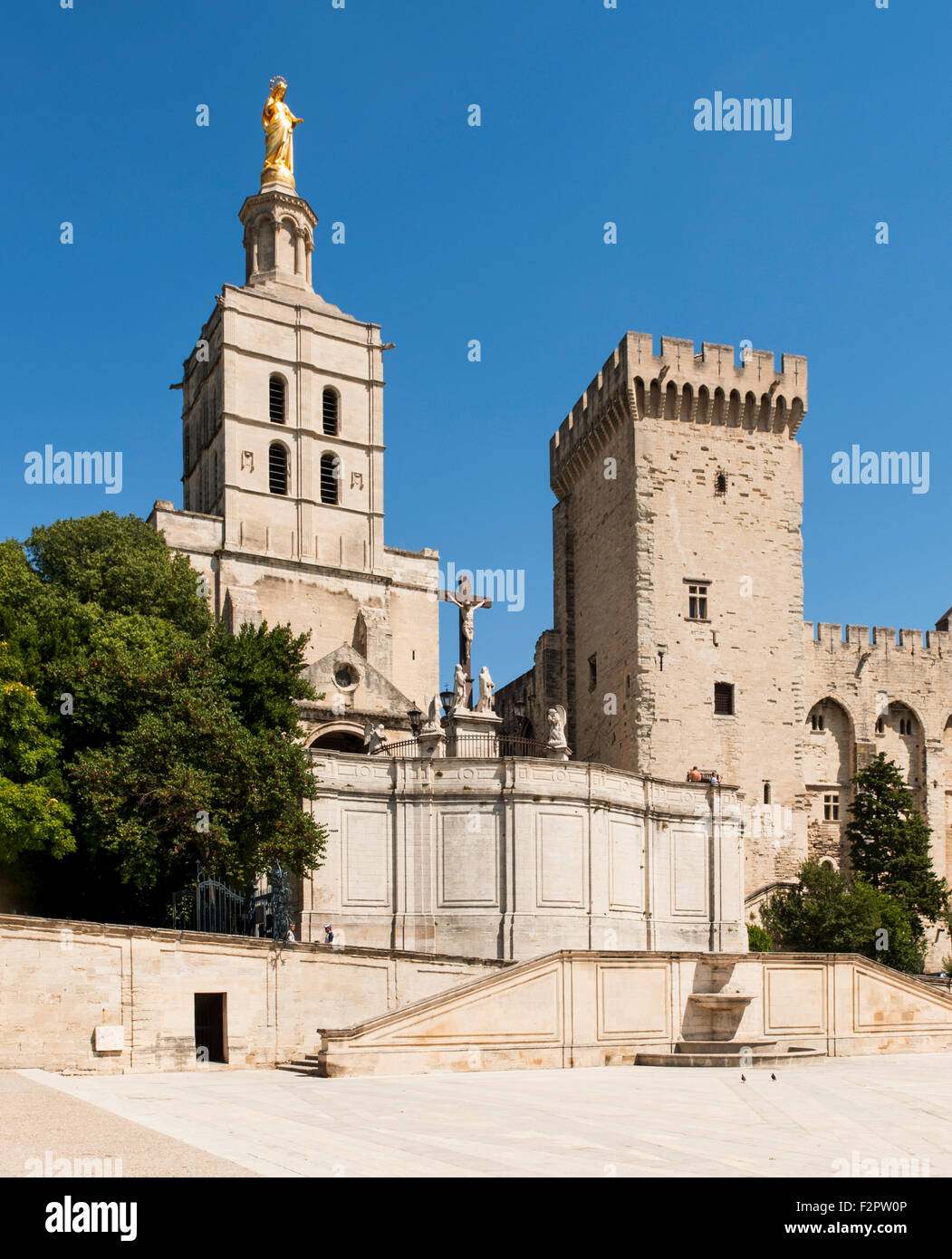 Palais des Papes, Papacy from 1309-1423 Avignon Departement Vaucluse Provence France Europe - Stock Image