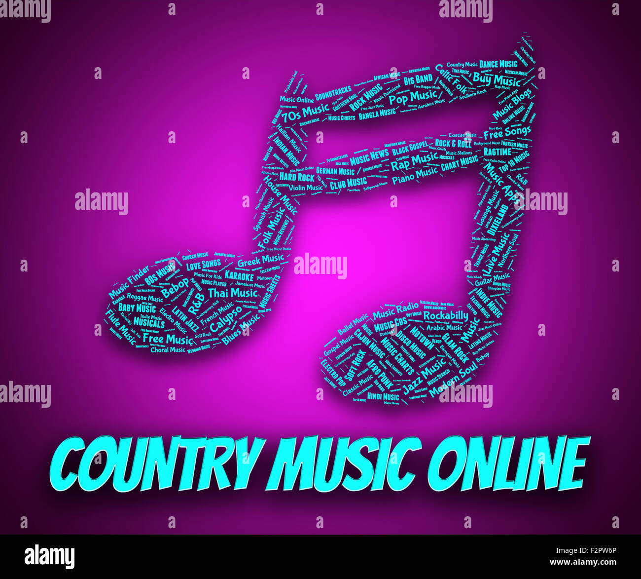Country Music Online Representing Sound Track And Www Stock