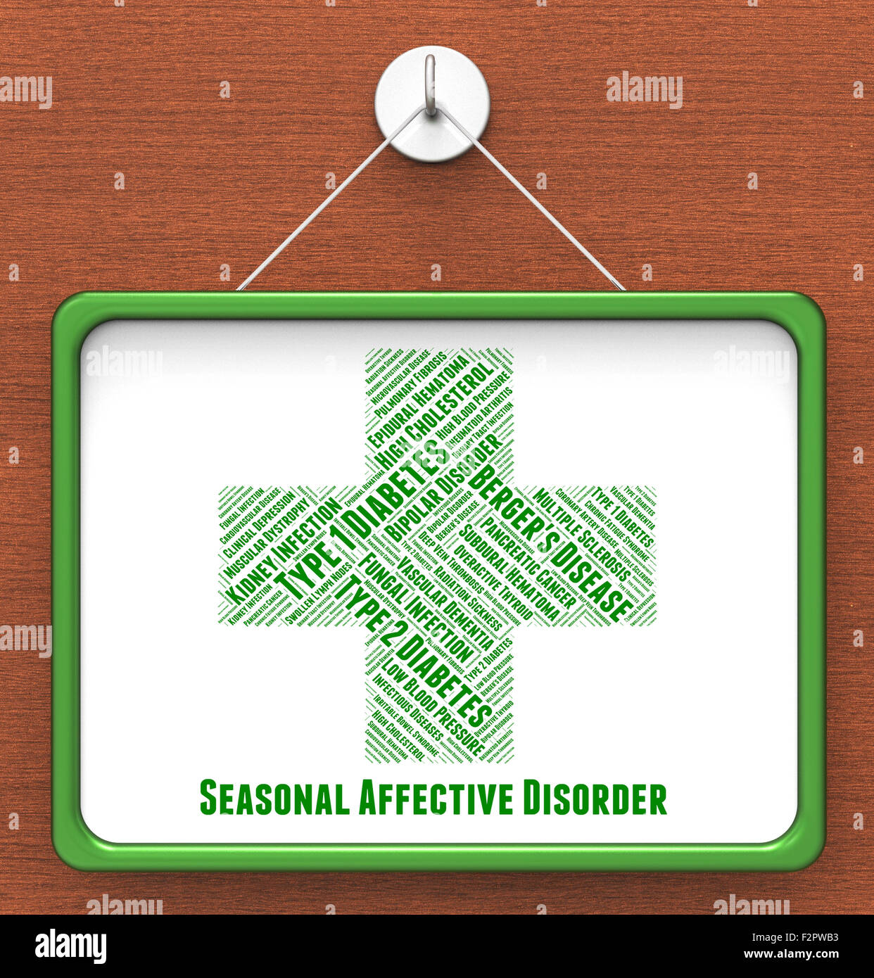 Seasonal Affective Disorder Meaning Ill Health And Sadness Stock Photo Alamy