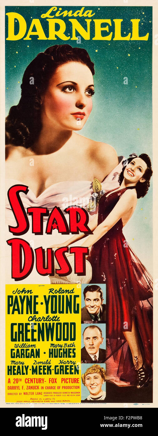 Star Dust (1940) - Movie Poster - Stock Image